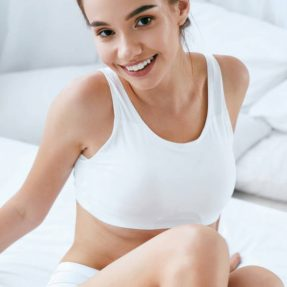 Woman Body Care. Girl With Soft Body Skin And Long Legs; Shutterstock ID 1210623502; Purchase Order: B&M